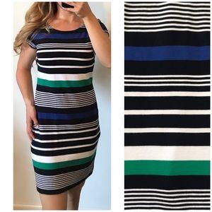 BANANA REPUBLIC Striped Stretch Shirt Dress Size 6